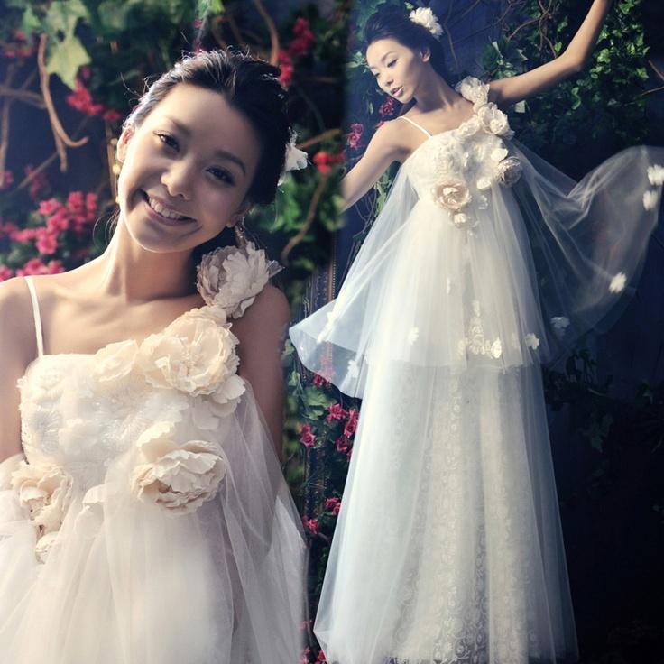 wedding dress for pregnant bride -ZZKKO (it suits for big ...