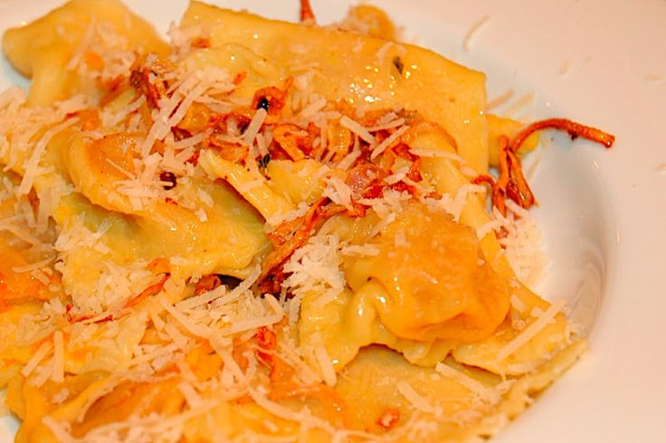 The Skinny Gourmet: Buttercup Squash Ravioli with Parmesan Butter ...