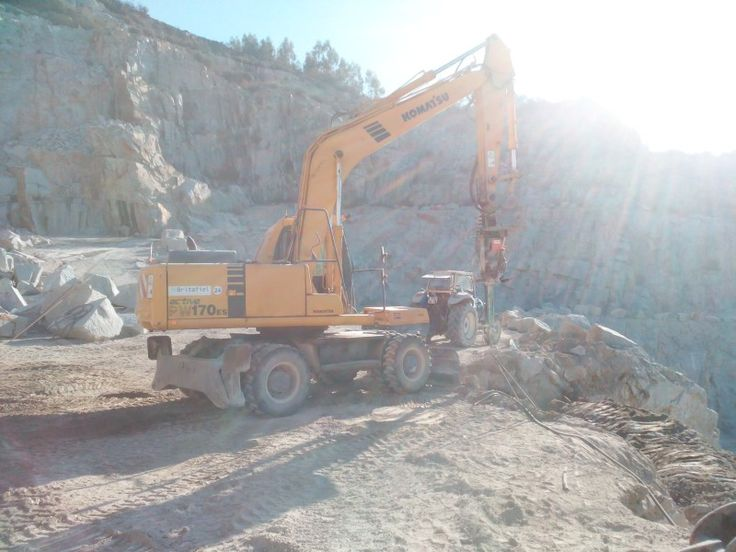 Drilling with excavator