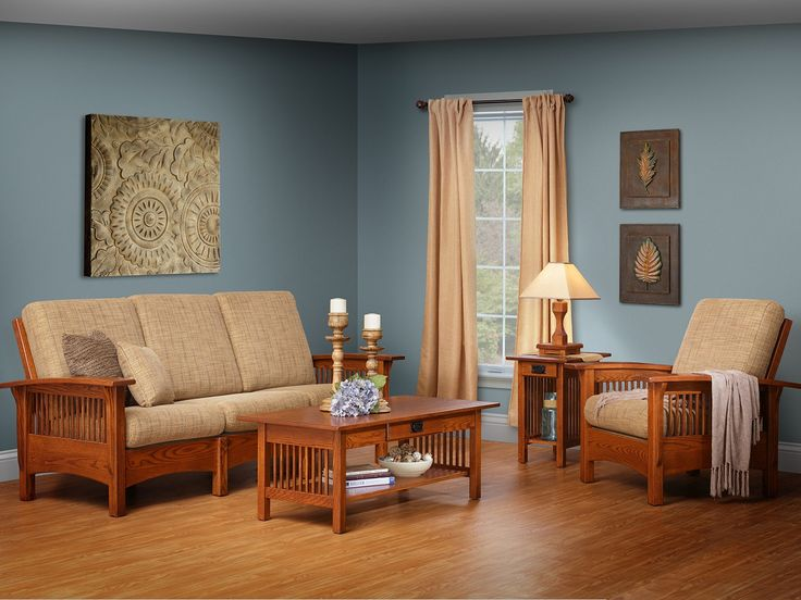 Shop the look of our handcrafted Mission Morris Living Room Set, a gorgeous addition to any space.