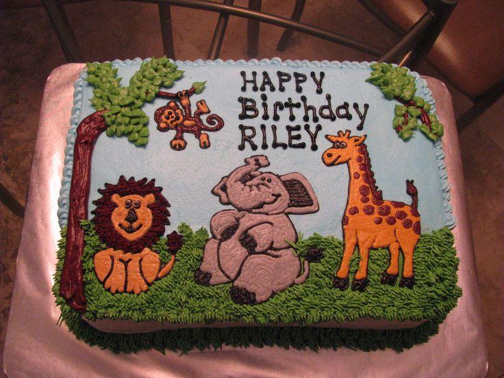 Best 25 Animal Birthday Cakes Ideas On Pinterest