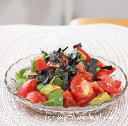 5分で簡単*めんつゆdeトマトアボカドのおつまみ的サラダ   冬のひいらぎ 秋のかえで*shinkuのレシピ&ライフ