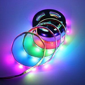 SOLMORE1M WS2812B Ruban LED USB RGB Étanche IP65 Éclairage Deco Ambiance Télé PC Vélo Voiture Cuisine Soirée Mariage Intérieur Extérieur DC…
