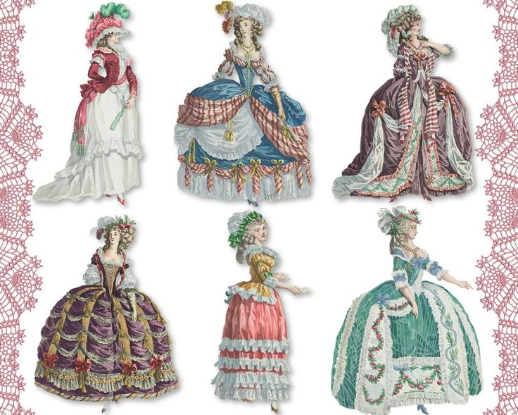 Marie Antoinette 04 digital collage sheet png cutouts paper dolls. $3.50, via Etsy.