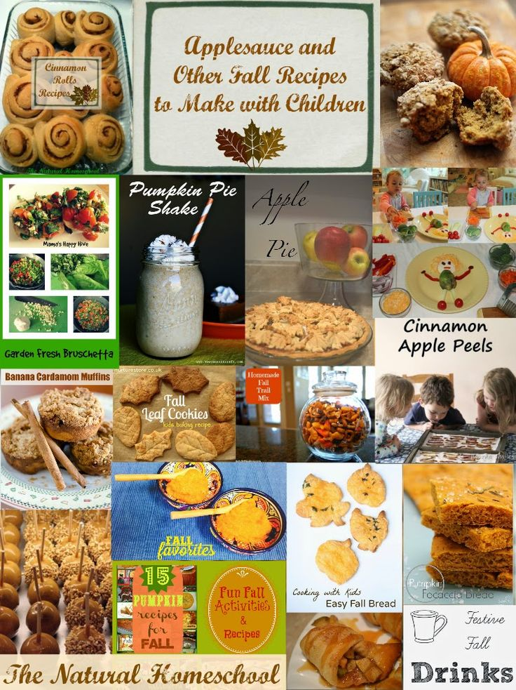 The Natural Homeschool: Applesauce and Other Fall Recipes to Make with Children