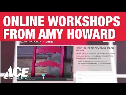 How to Use Chalk-Based Paint from Amy Howard at Home - Ace Hardware - YouTube