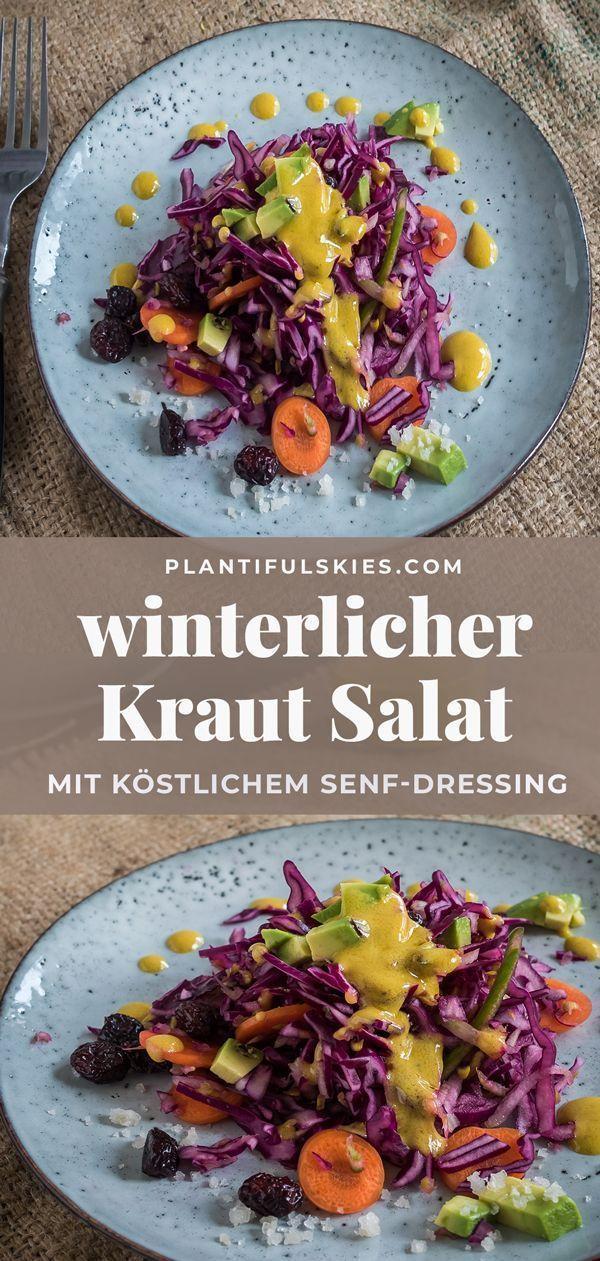 Winterlicher Krautsalat mit Senf Dressing