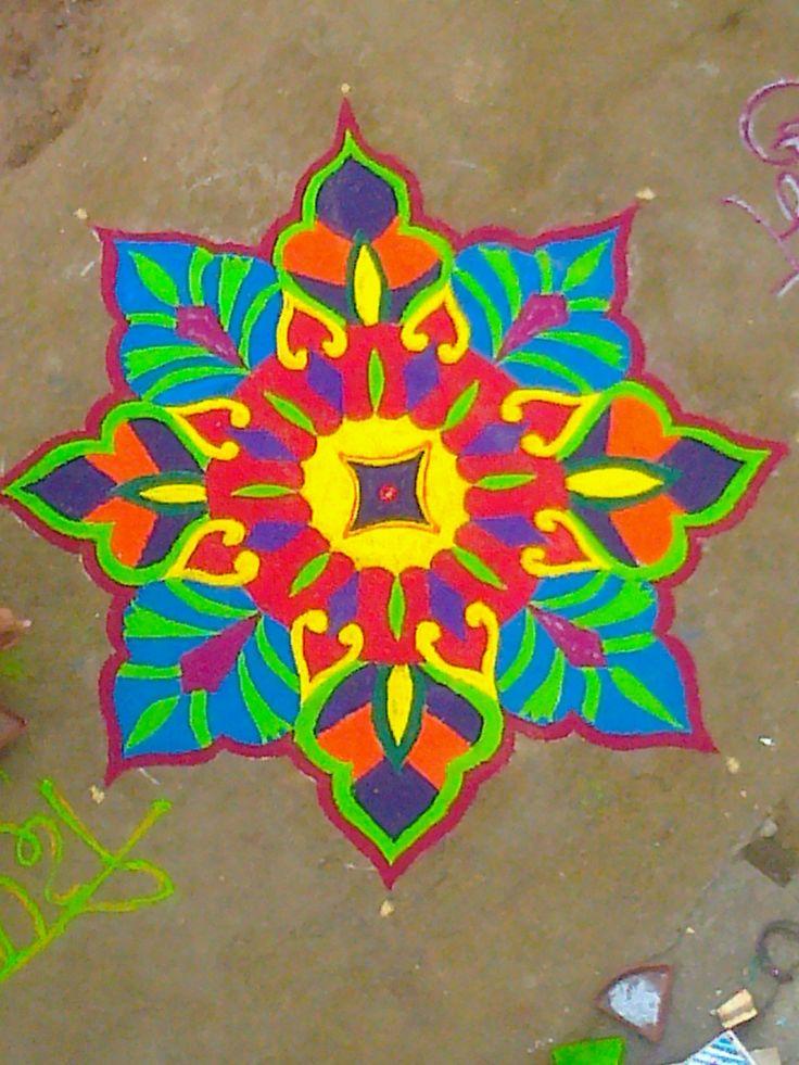 Rangoli design.