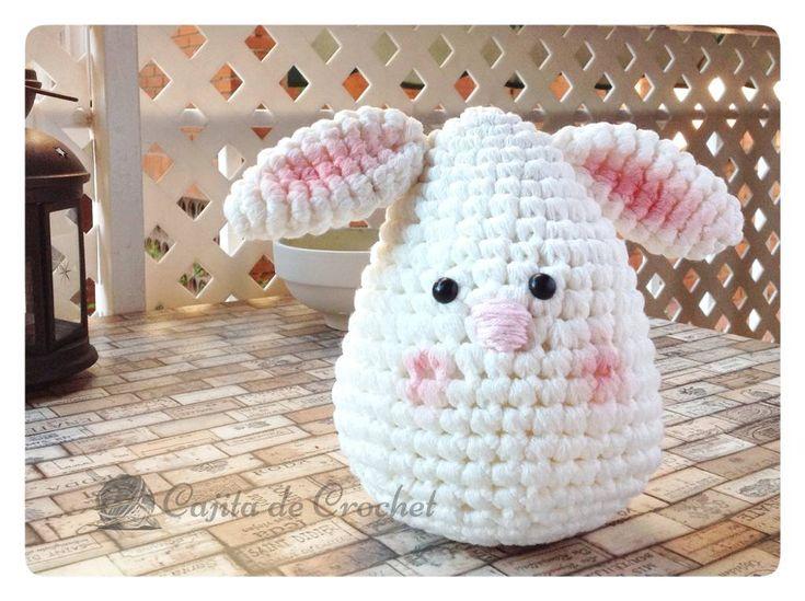 Conejo Amigurumi cajitadecrochet.com