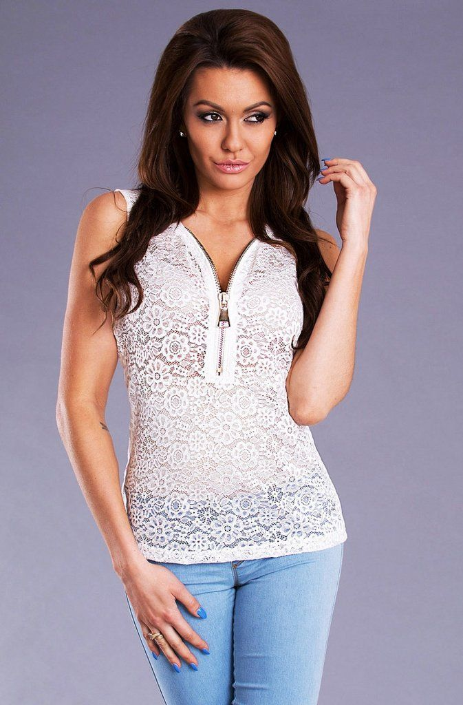 Lace Blouse with zipper