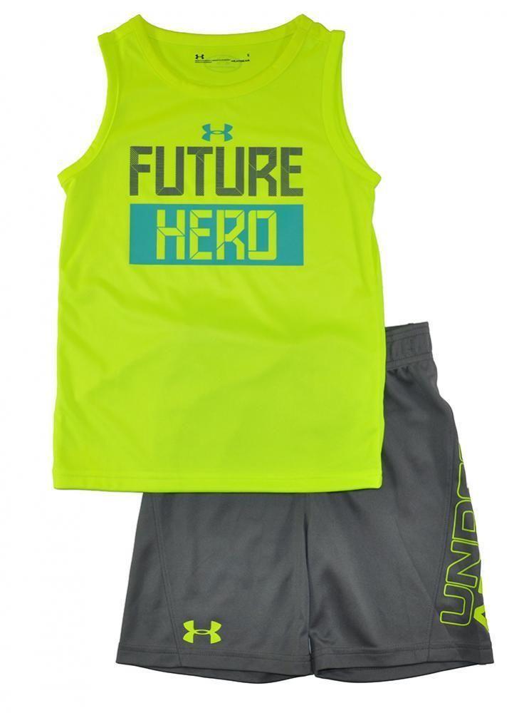 6c566b79218 Under Armour Boys Hi Vision Yellow Future Hero Tank Top 2pc Short Set Size  5  fashion  clothing  shoes  accessories  kidsclothingshoesaccs ...