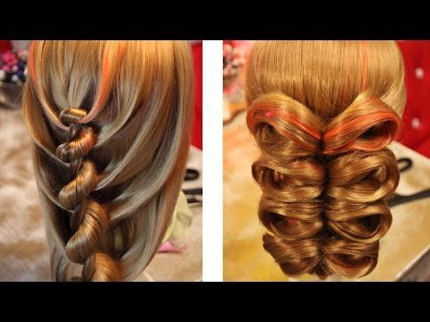 Hairstyle for medium hair - Причёска с резинками - Hair tutorial - Hairstyles by REM - YouTube