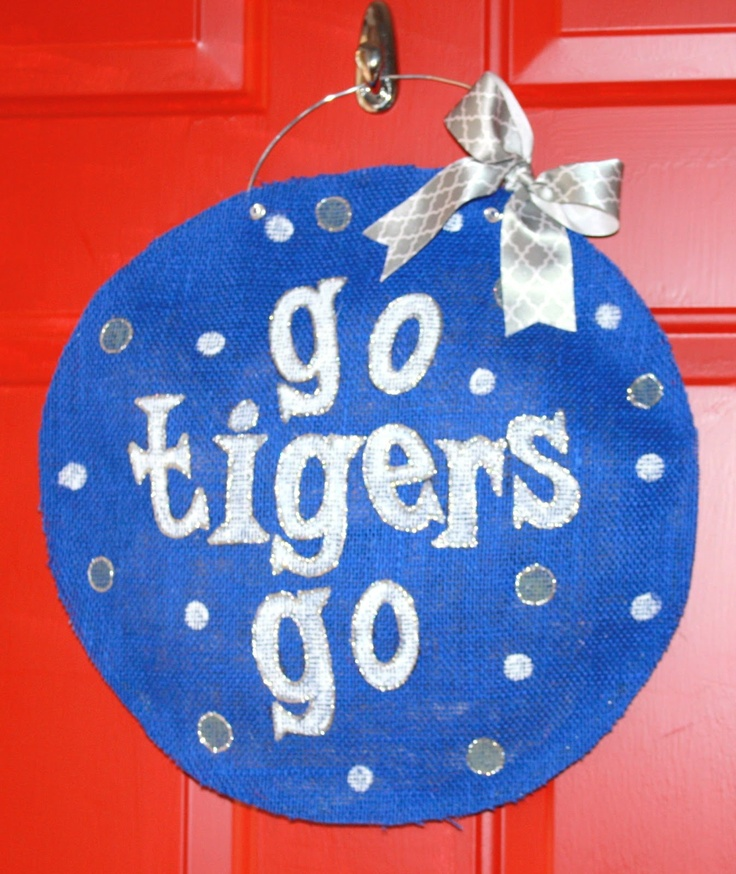 University Of Memphis Go Tigers Burlap Door Hanger The Potter His Clay Getting