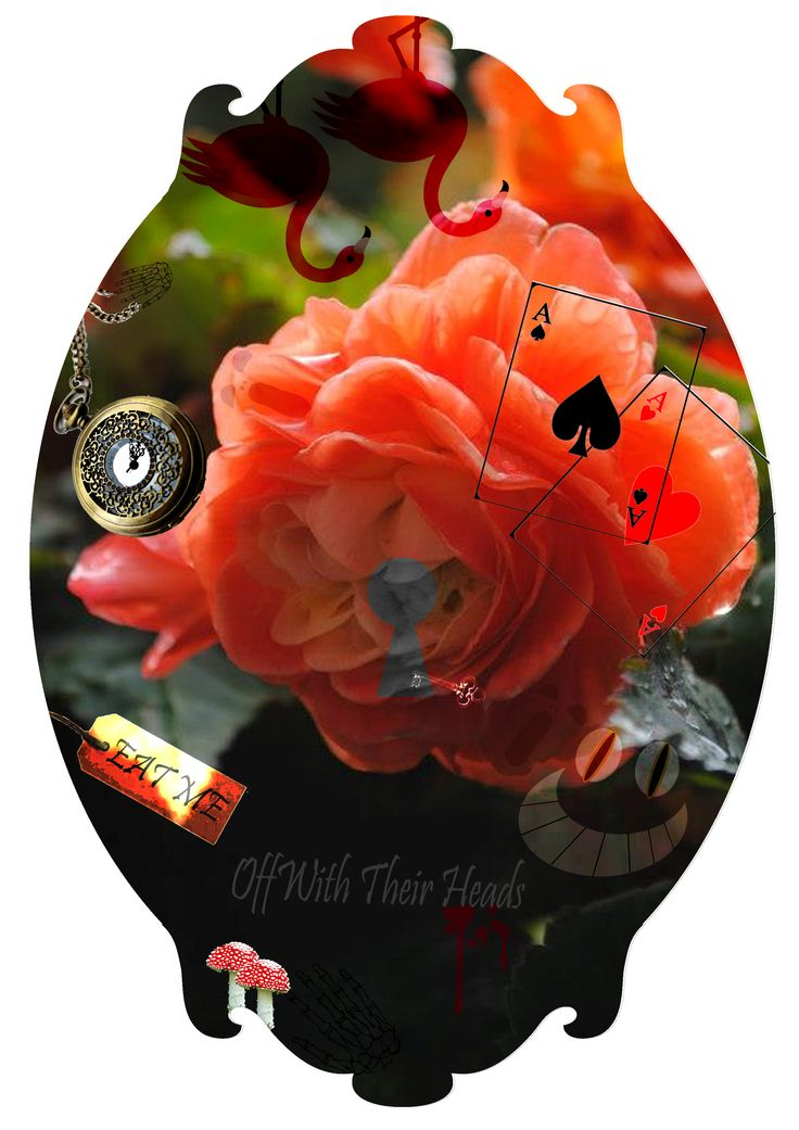 Alice in Wonderland Digital Motif