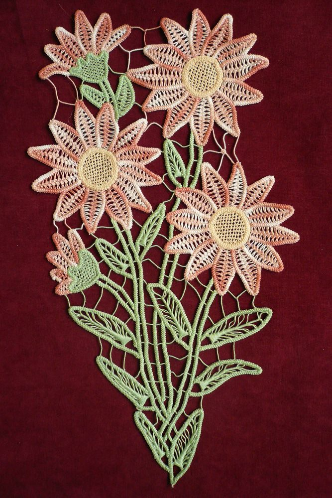 Romanian Point Lace Crochet flowers