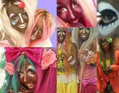 """""""And now we present the winners of The Extreme Tanning Competition. Don't just tan, Extreme Tan!""""         Wow, drinking too much Starbuck's does have side effects…        This is what happens when you mix Starbuck's, lots of LSD, tanning, and Jersey Shore fangirls. Willy Wonka's Chocolate Shit Factory is missing a couple Oompa-Loompas. I just envision them rolling away Violet Beauregarde after her transformation into a blueberry."""