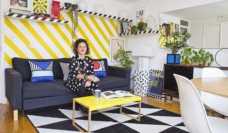 French artist Camille Walala's colourful and striped flat - adore her style!