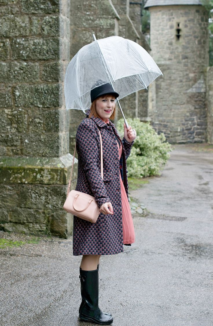 Dress with Hunter boots