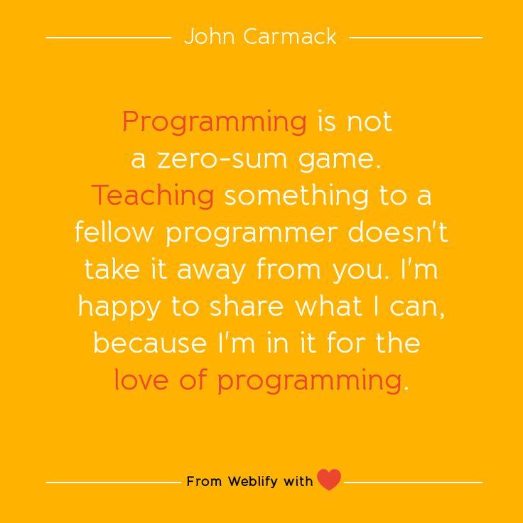 Inspiring coding quotes: John Carmack