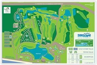 Seascape Resort Map - Destin, FL