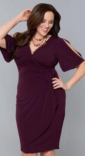 Модные новогодние платья 2014 для полных. 33 фото