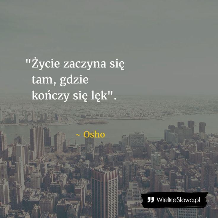 Życie zaczyna się tam... #Osho, #Strach, #Życie