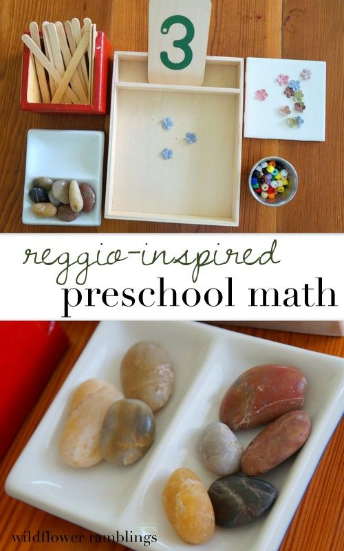 reggio inspired preschool math - Wildflower Ramblings