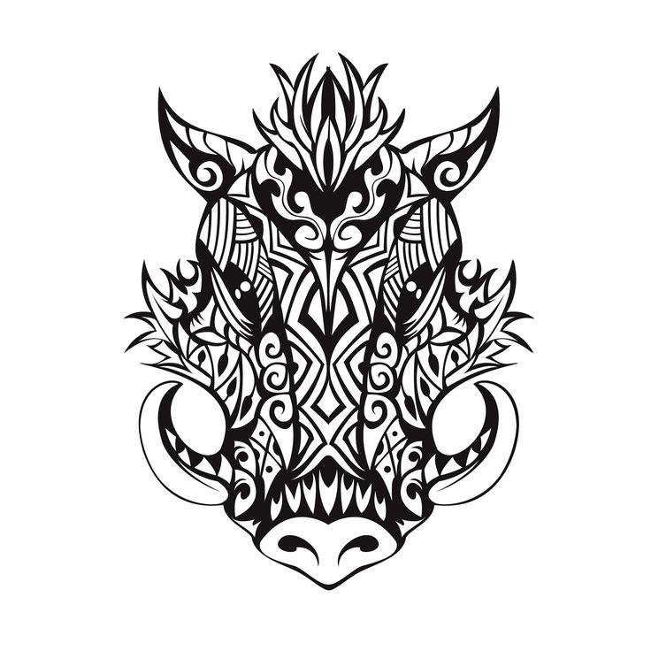 tribal boar tattoo tattoo design pinterest tattoo tatting and tatoo. Black Bedroom Furniture Sets. Home Design Ideas