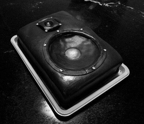 Speaker cake