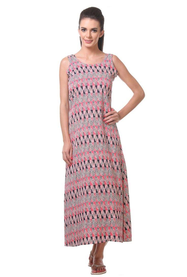Tweens Peach Printed Short Night Dress For Womens Night Wear Coral Top