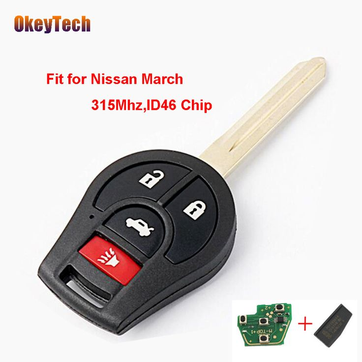 OkeyTech 4 Buttons 315Mhz Remote Control Key For Nissan March Sunny Keyless Entry ID46 Chip Fob Transmitter For Nissan March Key. Yesterday's price: US $14.52 (12.01 EUR). Today's price: US $10.89 (9.00 EUR). Discount: 25%.
