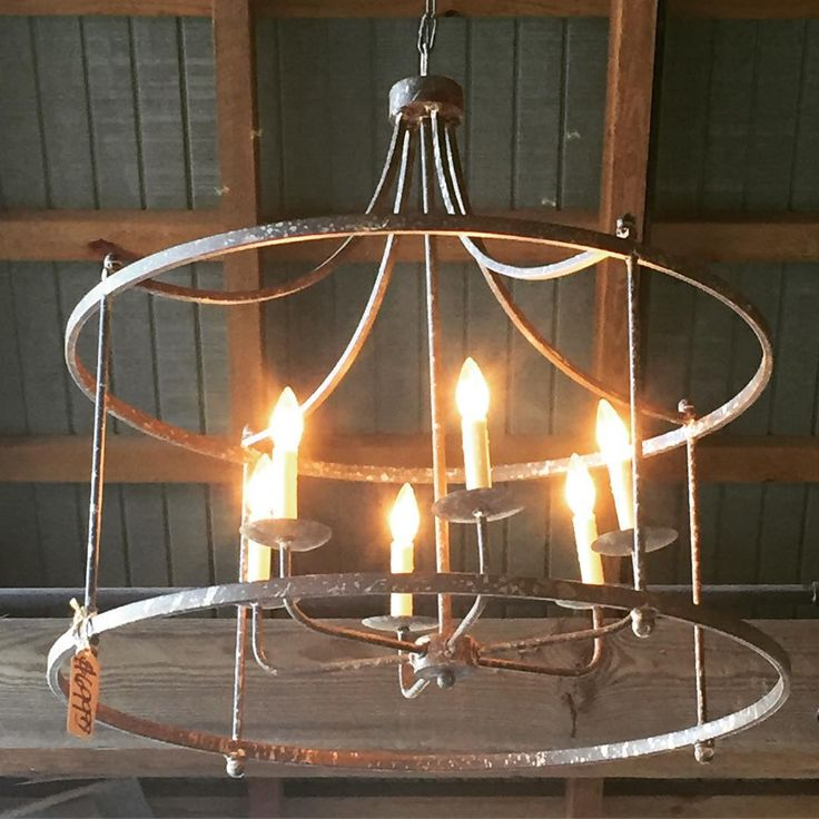 Loving this special rustic chandelier at Hood's Home Centers! Lighting is so key!