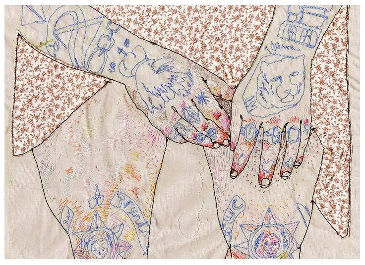Lisa Smirnova, embroidery artist.