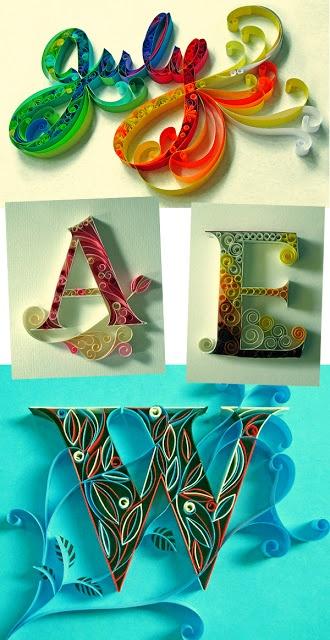 A designer Indiana, Sabeena Karnik, criou essas lindas tipografias usando apenas papel colorido e estilete. #Tipografia