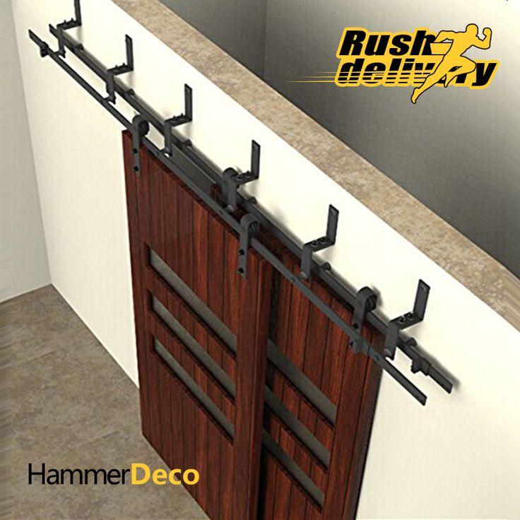 5 a 10FT fienile porta scorrevole rintraccia top black Chungang kit Americano interior fienile porta scorrevole hardware porta della stalla hardware