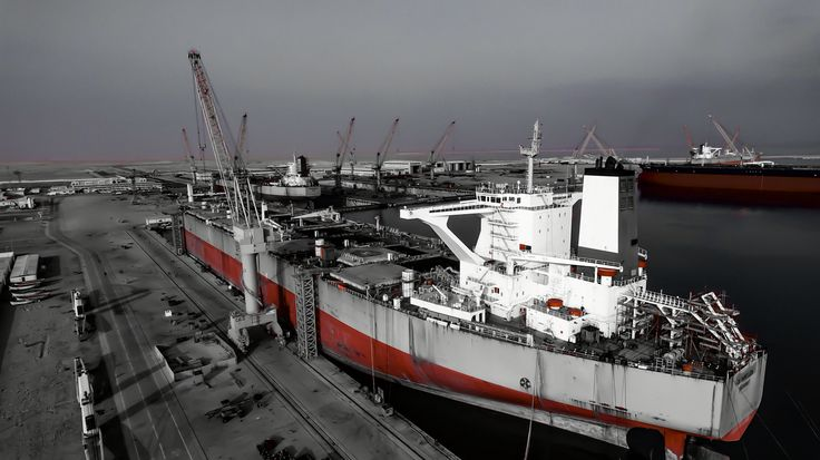 Olympic Lion at Oman DryDock Shipyard