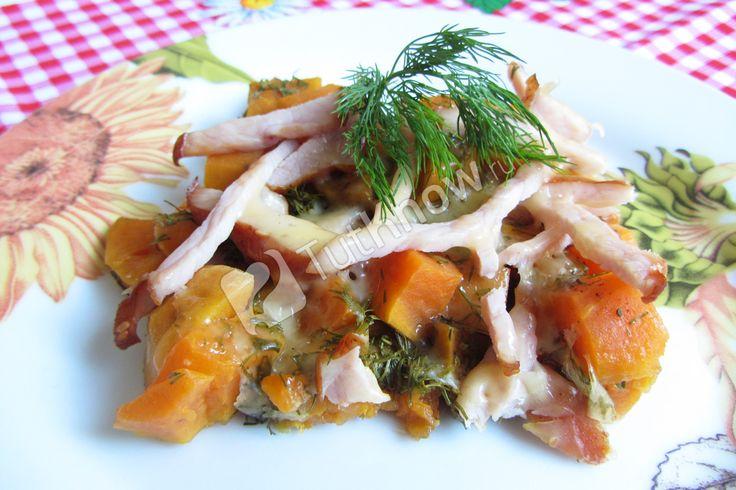 Батат запеченный в духовке с сыром и балыком