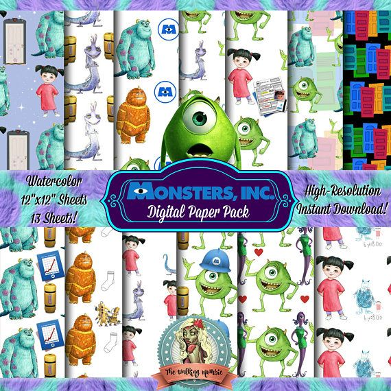 Check out this item in my Etsy shop https://www.etsy.com/listing/524138881/monsters-inc-digital-paper-pack-monsters