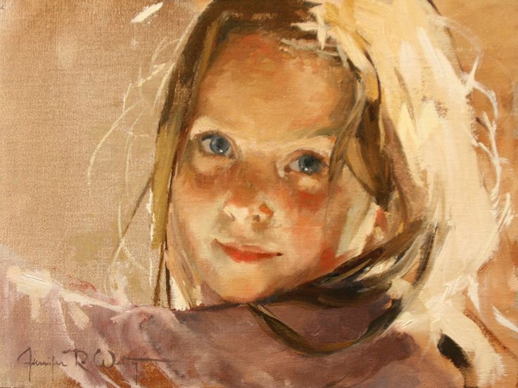 GORGEOUS oil portrait of a girl by an artist exclusively represented by Portraits, Inc.