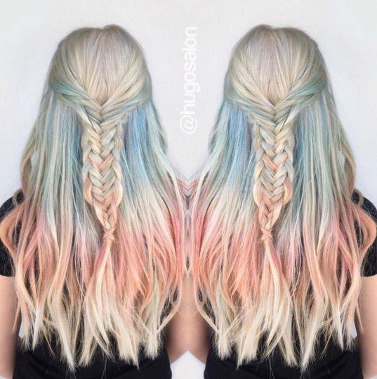 Gorgeous fire and ice peekaboo hair