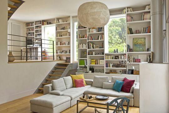 L'organisation dans le salon - 36 idées à piquer pour un salon 100 % contemporain - CôtéMaison.fr