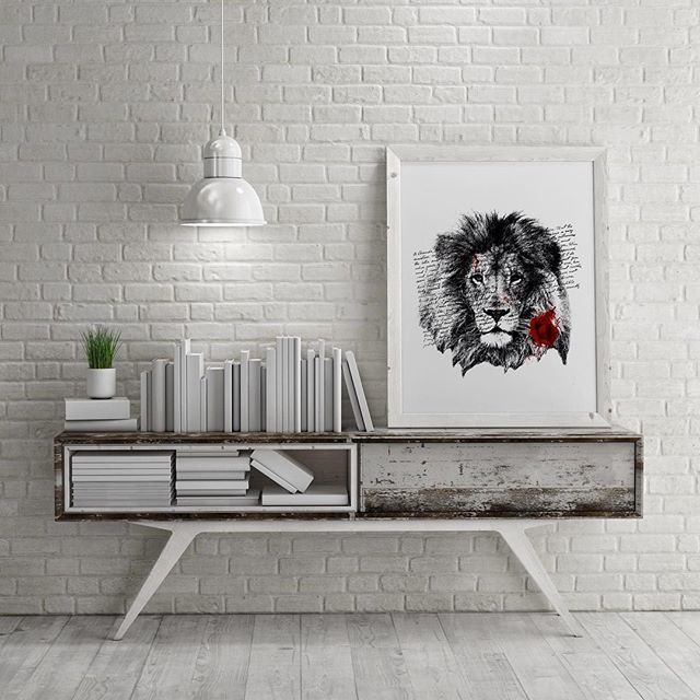 'Lion Rose' #interior #poster #design