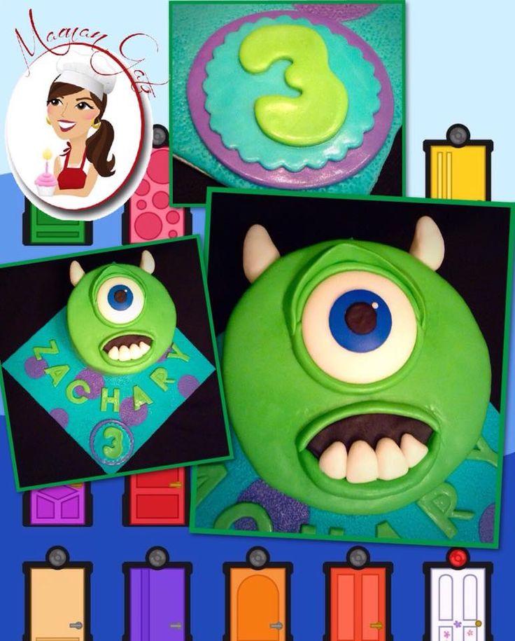 Monster University Mike Cake - Gâteau Mike de  l'université des Monstres by/de Maman Gato