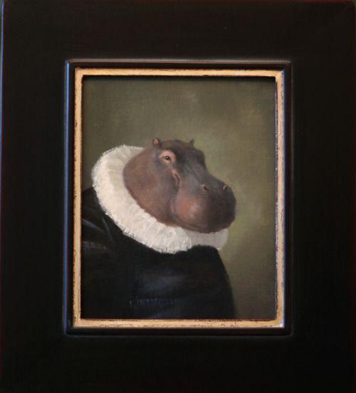 Sir Hippo - Leslie Sealy: Sir Hippo, Art Stuff, Wonder Art, Lesley Sealey, Wanna Hippopotamus, Posts, Weird Stuff, Leslie Sealey, Baby Stuff
