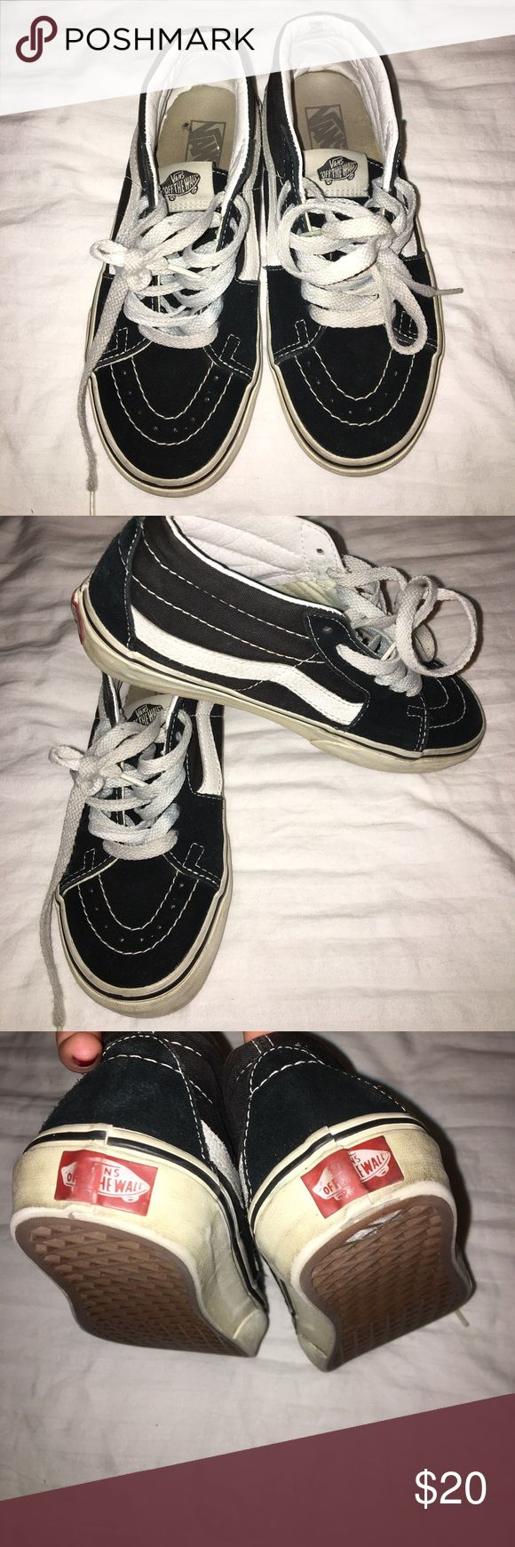 Vans Low top Skate Highs Kind of worn but still cute and wearable !!! Vans Shoes