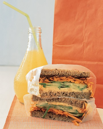 A collection of vegetarian sandwich and wrap recipes.