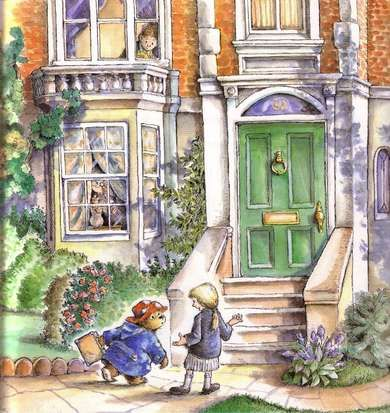 Paddington arrives at number 32, Windsor Gardens to start a new life with the Brown Family.