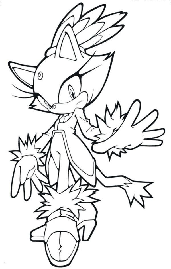 Sonic Coloring Pages Blaze The Cat In 2020 Coloring Pages Cat