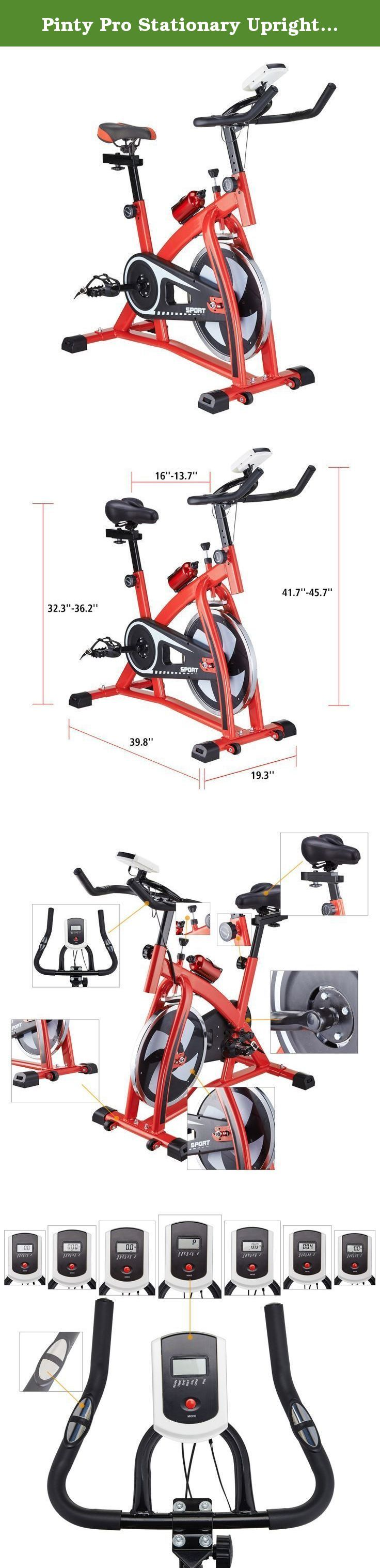 "Pinty Pro Stationary Upright Exercise Bike Indoor Cycling Gym Cardio Trainer with LCD Monitor & Water Bottle (Red). Honestly, the review we received all complain about the size of our stationary bike. We feel terrible sorry for the size problem, please notice, the bike is not suitable for the person who taller than 5.6"". Any after-sales problem please contact us, would like to help you solve the problem! Thank you so much for your understanding! Description: Thanks to its intelligent and..."