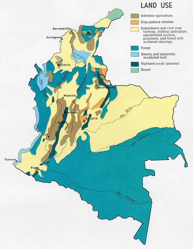 colombian land use map Colombia Pinterest Land use Maps and Search